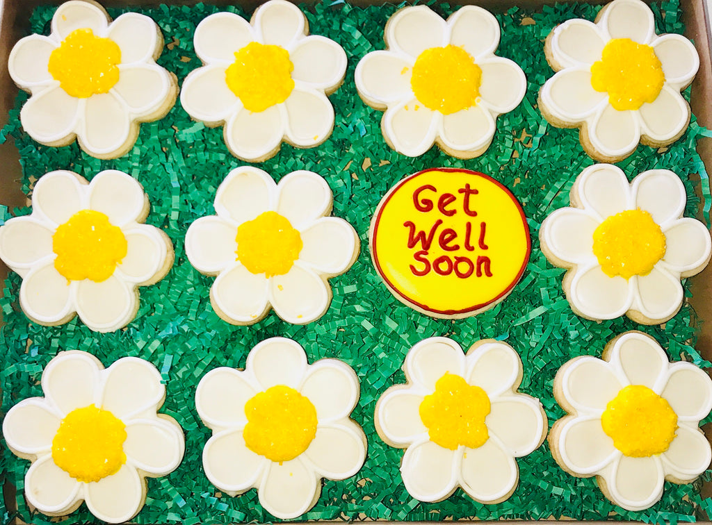COOKIE BOX GET WELL DAISIES