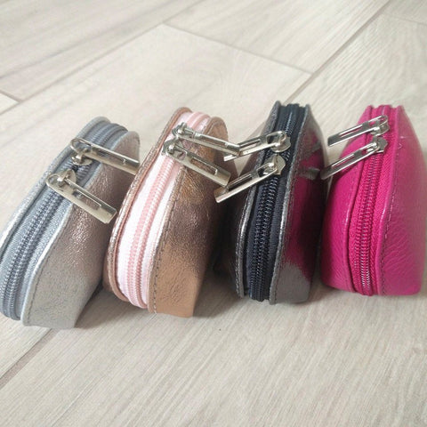Genuine leather coin purse selection of colours