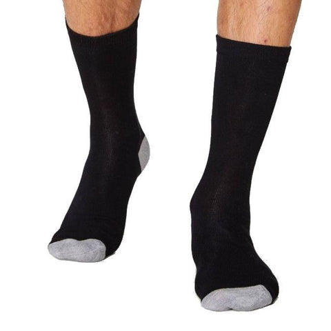 Solid jacks soft & breathable bamboo socks in black