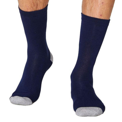 Solid jacks soft & breathable bamboo socks in navy