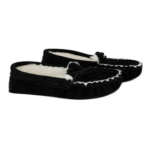 Special Edition All Black Waveney Moccasin Sheepskin Slipper