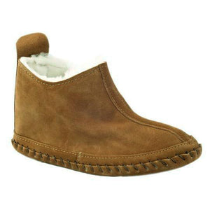 Fenland Sheepskin Slipper Boots in Coco and Brown Tornado - Limited Sizes