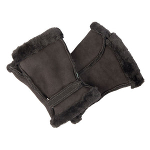 Ladies' Luxurious Fingerless Sheepskin Gloves