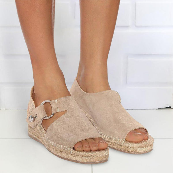 Suede Wedge Heel Daily Shoes
