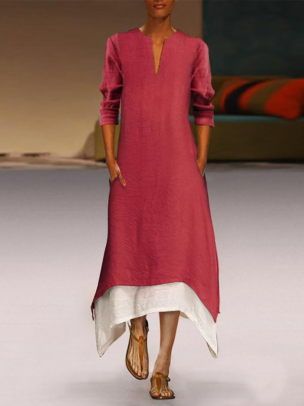 Linen Elegant Casual Maxi Dress