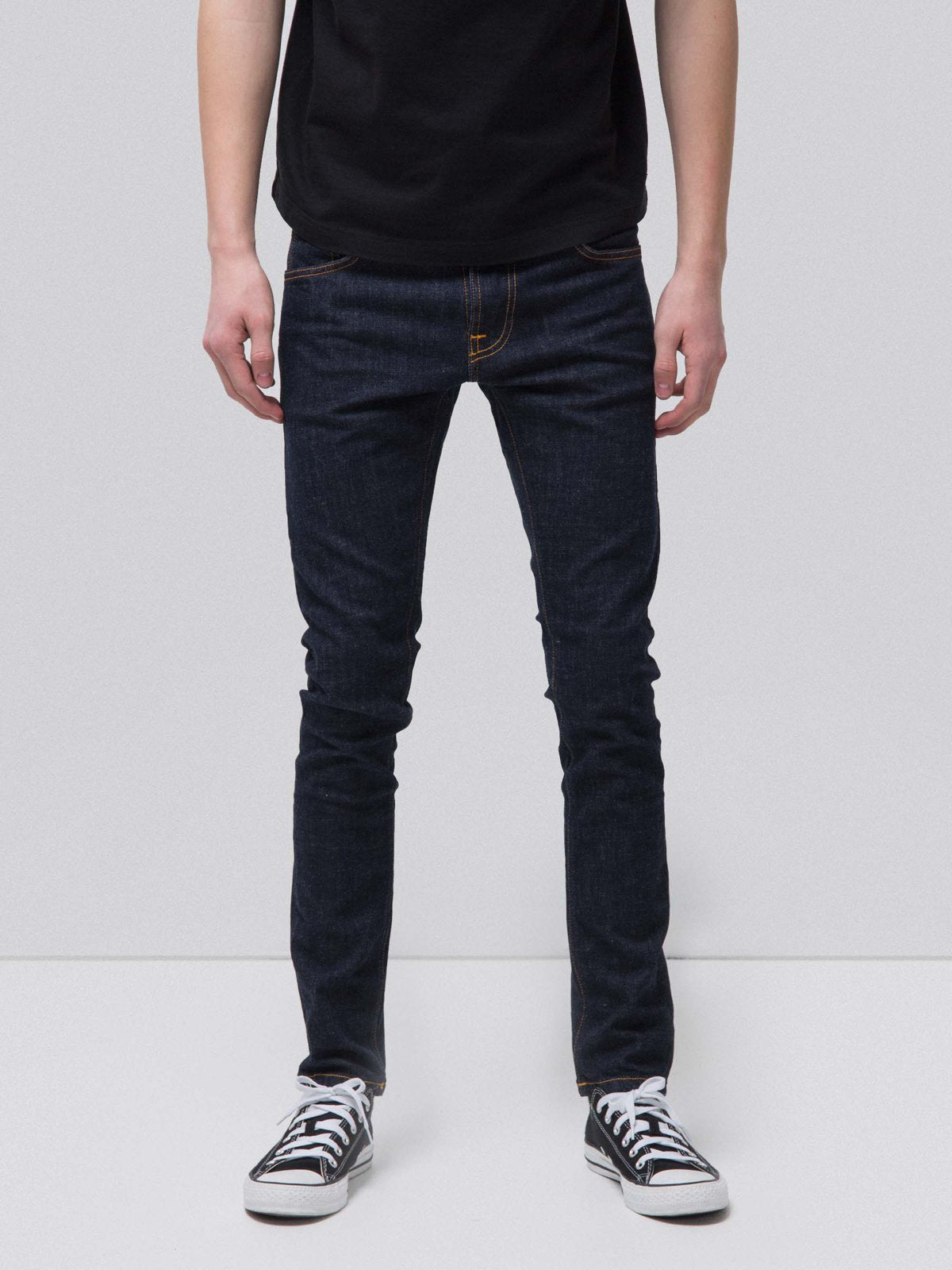 Nudie Jeans - Jean skinny brut coton bio - tight terry