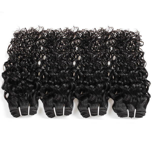 Easy Hair 10A Brazilian Virgin Hair Water Wave 4 Bundles With Lace Closure - Easy Hair