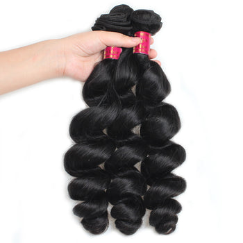 Sweetie Indian Virgin Human Hair Loose Wave Hair 3 Pcs 100% Virgin Human Hair - ExcellentVirginHair