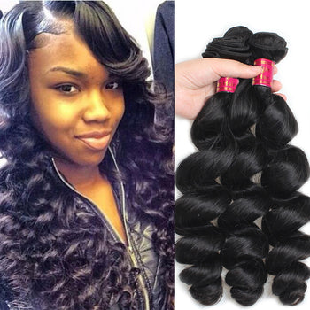 Sweetie Top Sale 3 Bundles Peruvian Virgin Human Hair Loose Wave Human Hair