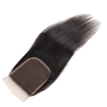 Malaysian Straight Lace Closure Straight Human Hair 4x4 Swiss Lace Closure - Urfirst Hair