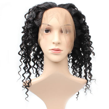 Indian Deep Wave Human Hair 360 Lace Frontal Closure 1pc/lot - ExcellentVirginHair