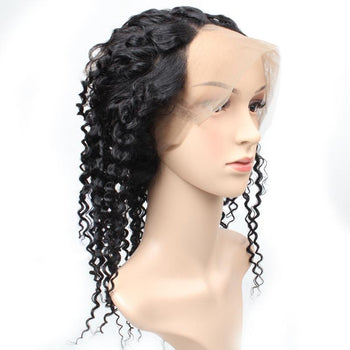 Peruvian Virgin Curly Human Hair 360 Lace Frontal Closure 1pc/lot - ExcellentVirginHair