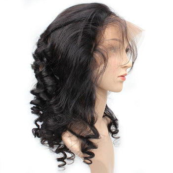 Indian Loose Wave Human Hair 360 Lace Frontal Closure 1pc/lot - ExcellentVirginHair