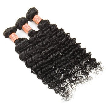 Malaysian Hair Weave 3 Bundle Deals Malaysian Deep Wave Human Hair - ExcellentVirginHair