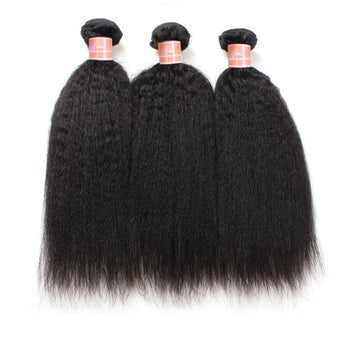 Ama Peruvian Yaki Straight Virgin Human Hair 3 bundles - ExcellentVirginHair