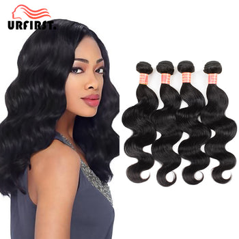 "Urfirst Wholesale Indian 8A Grade Virgin Human Hair Body Wave 10 Bundles 8""-28"" Natural Black"
