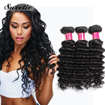 Sweetie Peruvian Virgin Hair Deep Wave 3 Bundles Unprocessed Virgin Wave Hair