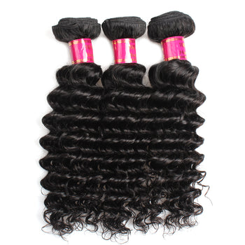 Sweetie Malaysian Hair Weave 3 Bundle Deals Malaysian Deep Wave Human Hair - ExcellentVirginHair