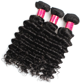 Sweetie Indian Virgin Hair Deep Wave 3 Pcs Unprocessed Human Hair - ExcellentVirginHair