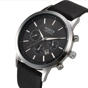 Men's Military Quartz Leather Wristwatch-99Accessory-99Accessory