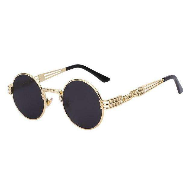 Round Metal Shades Sunglasses, Unisex-99Accessory-99Accessory