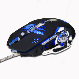 Professional 6button Gaming Mouse, LED, Wired