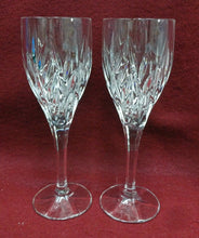 GORHAM crystal STAR BLOSSOM pattern Wine Goblet or Glass - Set of Two (2) 8-1/8""