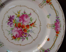 FRANZISKA HIRSCH china DRESDEN handpainted DINNER PLATE 10-7/8""