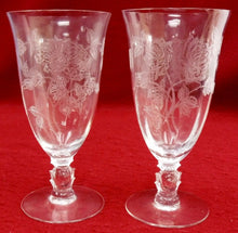HEISEY crystal HEISEY ROSE 5072 pattern ICED TEA Glass or Goblet 6-3/4""