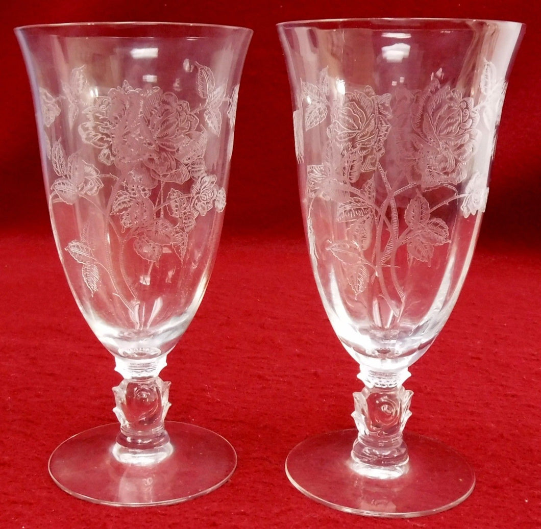 HEISEY crystal HEISEY ROSE 5072 pattern ICED TEA Glass or Goblet 6-3/4