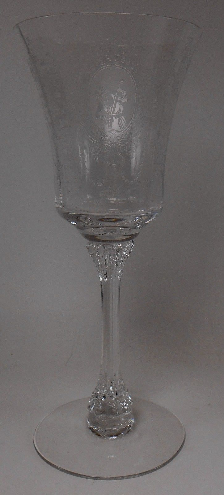 HEISEY crystal MINUET 5010 pattern Water Goblet/Glass @ 8