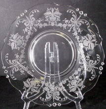 HEISEY crystal ORCHID 5025 pattern MAYONNAISE BOWL UNDERPLATE or LINE 7-1/4""