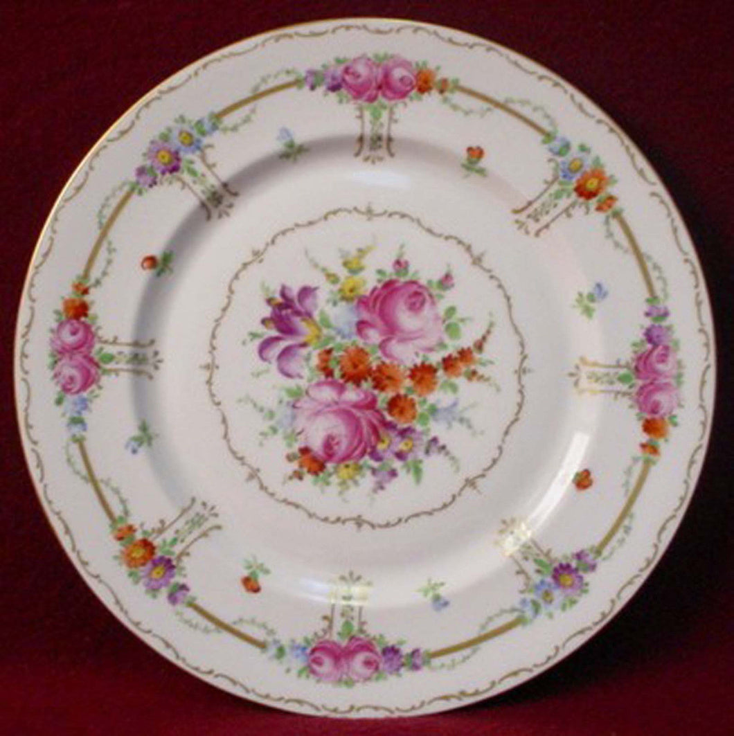 FRANZISKA HIRSCH china DRESDEN handpainted DINNER PLATE 10-7/8