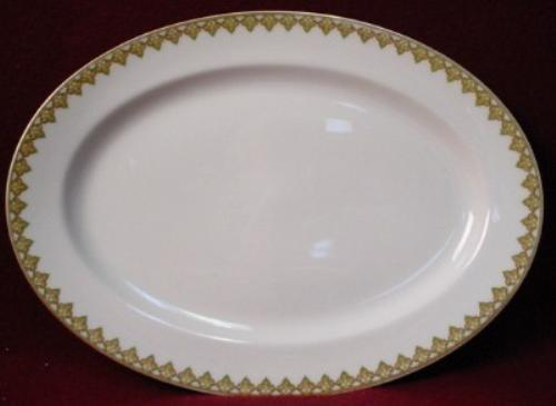 HAVILAND china THE MONACO Schleiger 295 OVAL MEAT Serving PLATTER 16