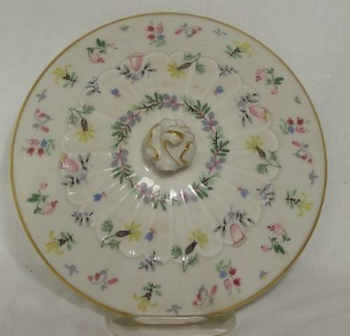 HAVILAND Limoges china BLUE BELL Covered Bowl LID ONLY