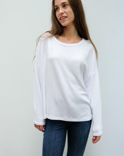 AV VET41 LS Top in white