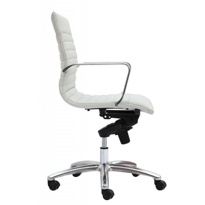 Chair - Zatto | Mid Back Executive Chair | White Leather