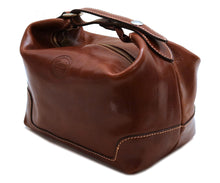 Cenzo Italian Leather Travel Toiletry Bag Dopp kit 1