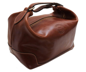 Cenzo Italian Leather Travel Toiletry Bag Dopp kit 4