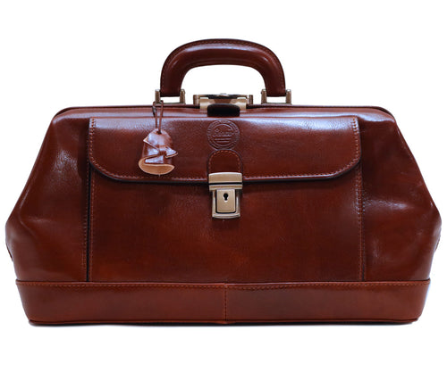 Cenzo Italian Leather Doctor Bag Briefcase Satchel 1