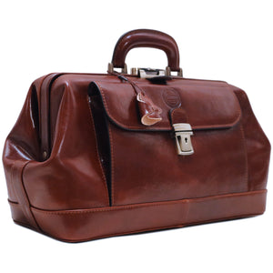 Cenzo Italian Leather Doctor Bag Briefcase Satchel 2