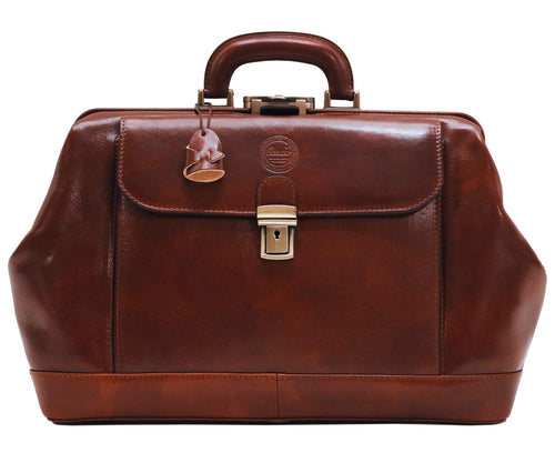Cenzo Leather Doctor Briefcase