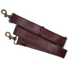 Italian Leather Luggage Guitar Shoulder Cross-body Strap brown 2