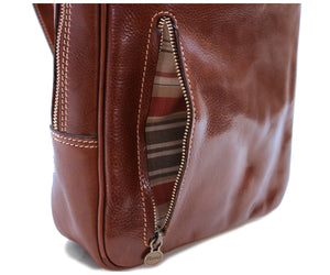 Cenzo Italian Leather Backpack Laptop Bag Knapsack 6