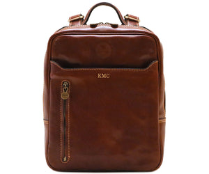 Cenzo Italian Leather Backpack Laptop Bag Knapsack 7