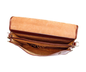 Cenzo Italian Leather Laptop Messenger Bag Briefcase 6