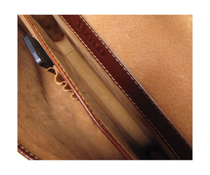 Cenzo Italian Leather Laptop Messenger Bag Briefcase 5