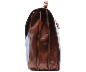 Cenzo Italian Leather Briefcase Messenger Bag 6