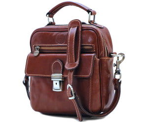 Cenzo Italian Leather Field Messenger Bag 2