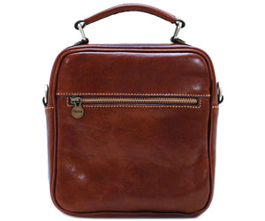 Cenzo Italian Leather Field Messenger Bag 5